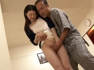 Father-in-law abuses his Japanese daughter-in-law while his son works