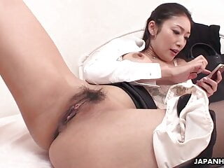 Japanese MILF Masturbating