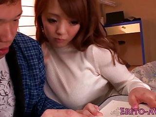 Busty Hitomi Tanaka receives a creamy cumshot